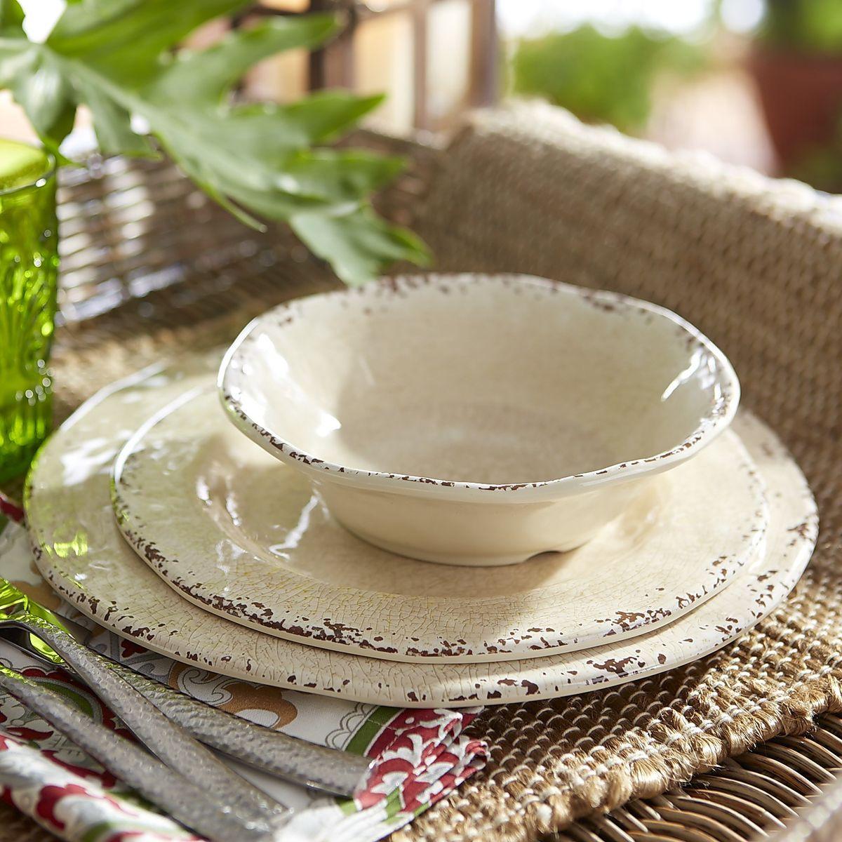 Carmelo Melamine Dinnerware - Sand | Pier 1 Imports | Dinnerware ...