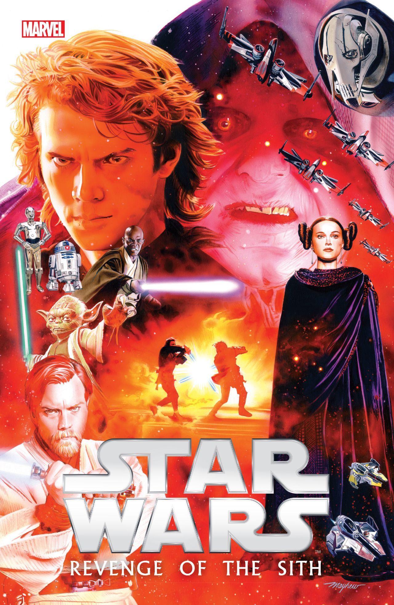 Star Wars Episode Iii Revenge Of The Sith Tpb Marvel Marvel Marvelofficial Starwars Cover Artist Star Wars Poster Star Wars Comics Star Wars History