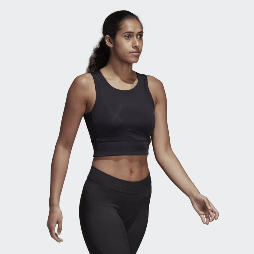 7b85c586baece adidas Wanderlust Yoga Crop Top - Black