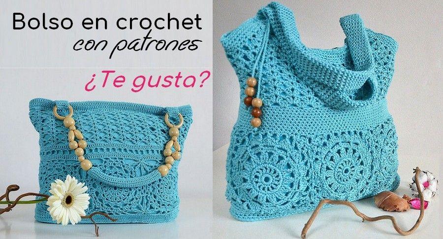Belo bolso a crochet con patrones   jamina   Pinterest   Bolsos ...