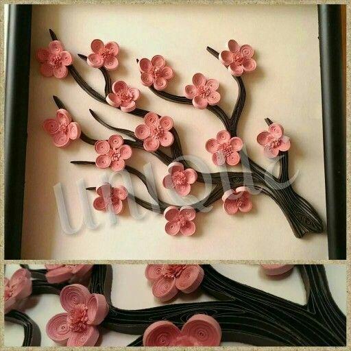 Quilled Sakura Tree Bahar