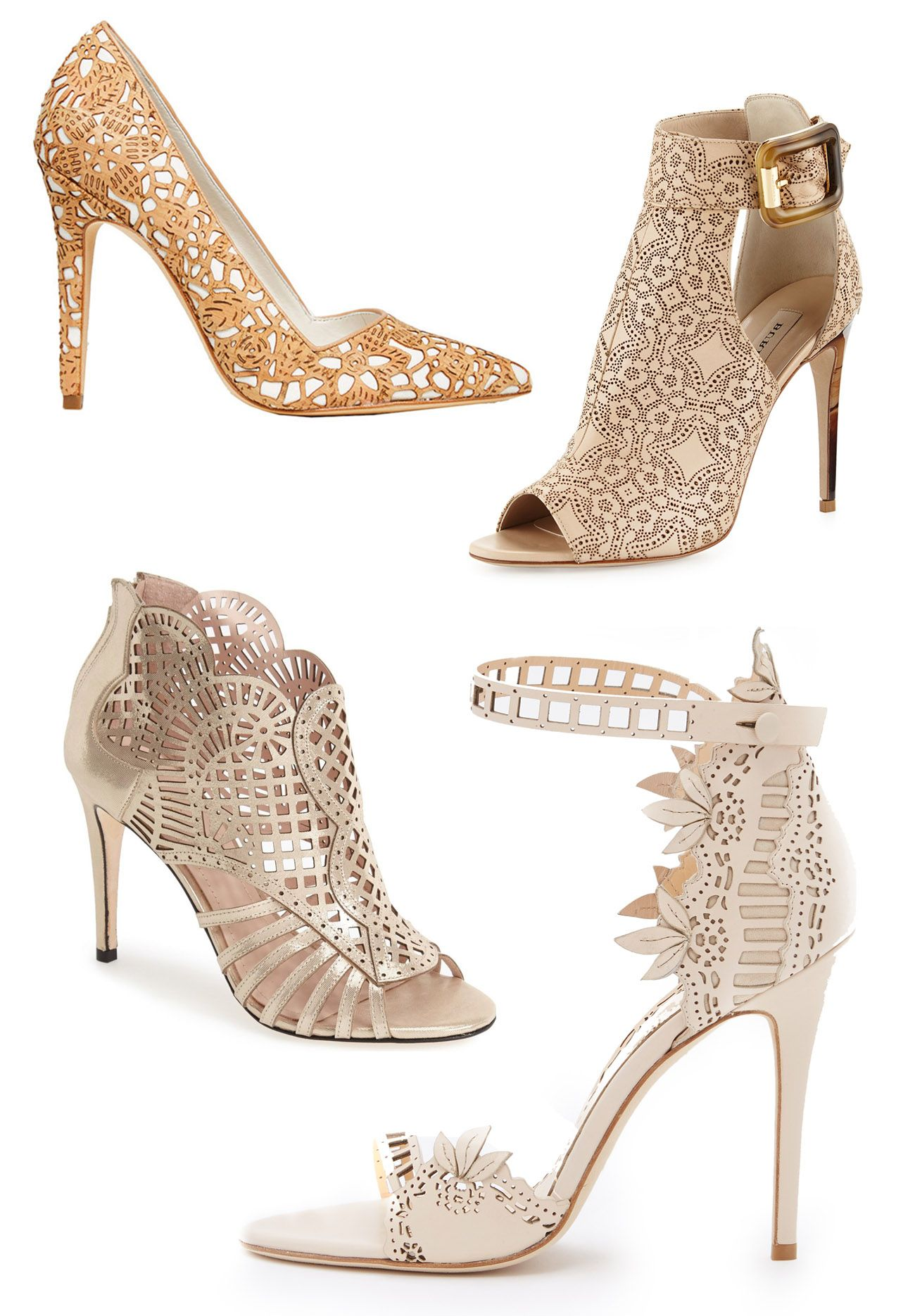 ... Wedding Shoes. Our favorite heels with laser cut details 3d8243f6f1b4