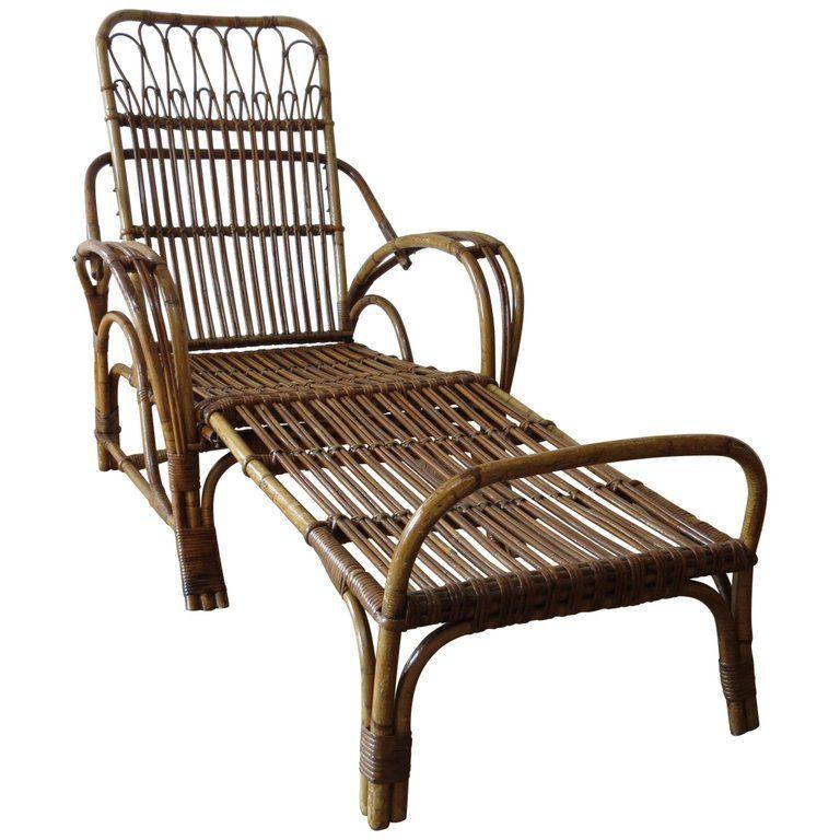Fine 1920S Cane And Bamboo Reclining Chair And Footstool In 2019 Inzonedesignstudio Interior Chair Design Inzonedesignstudiocom