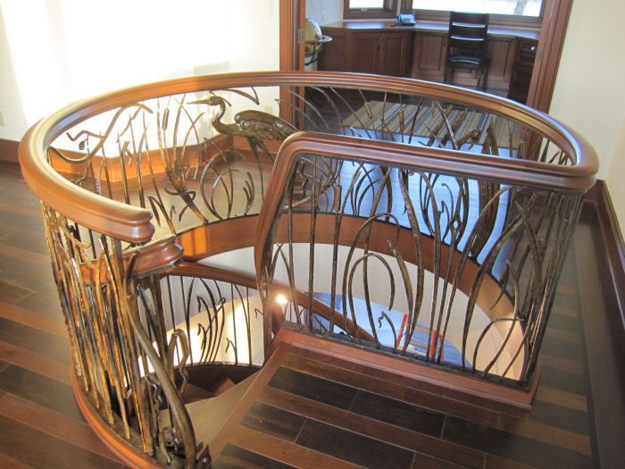 Best Residential Curved Stairs Custom Spiral Stairs 400 x 300