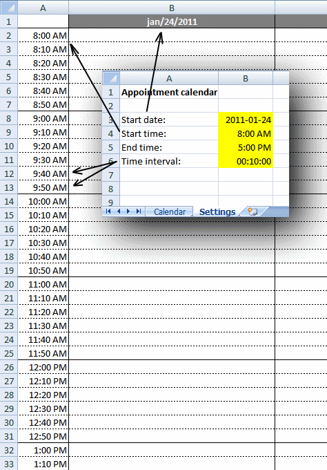 Weekly Appointment Calendar In Excel Appointment Calendar