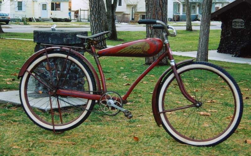 1936 Indian Bicycle Picture 1 Bicycle Pictures Vintage Bicycles Bicycle