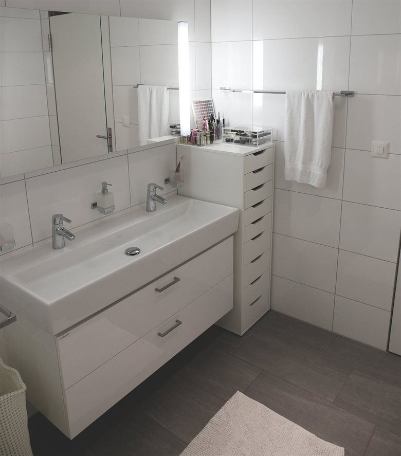 This Is Such A Good Idea Use Ikea Tall Alex Drawers In Your Bathroom To Organise Beauty Products Toiletries Cle Badgestaltung Badezimmer Wohn Schlafzimmer