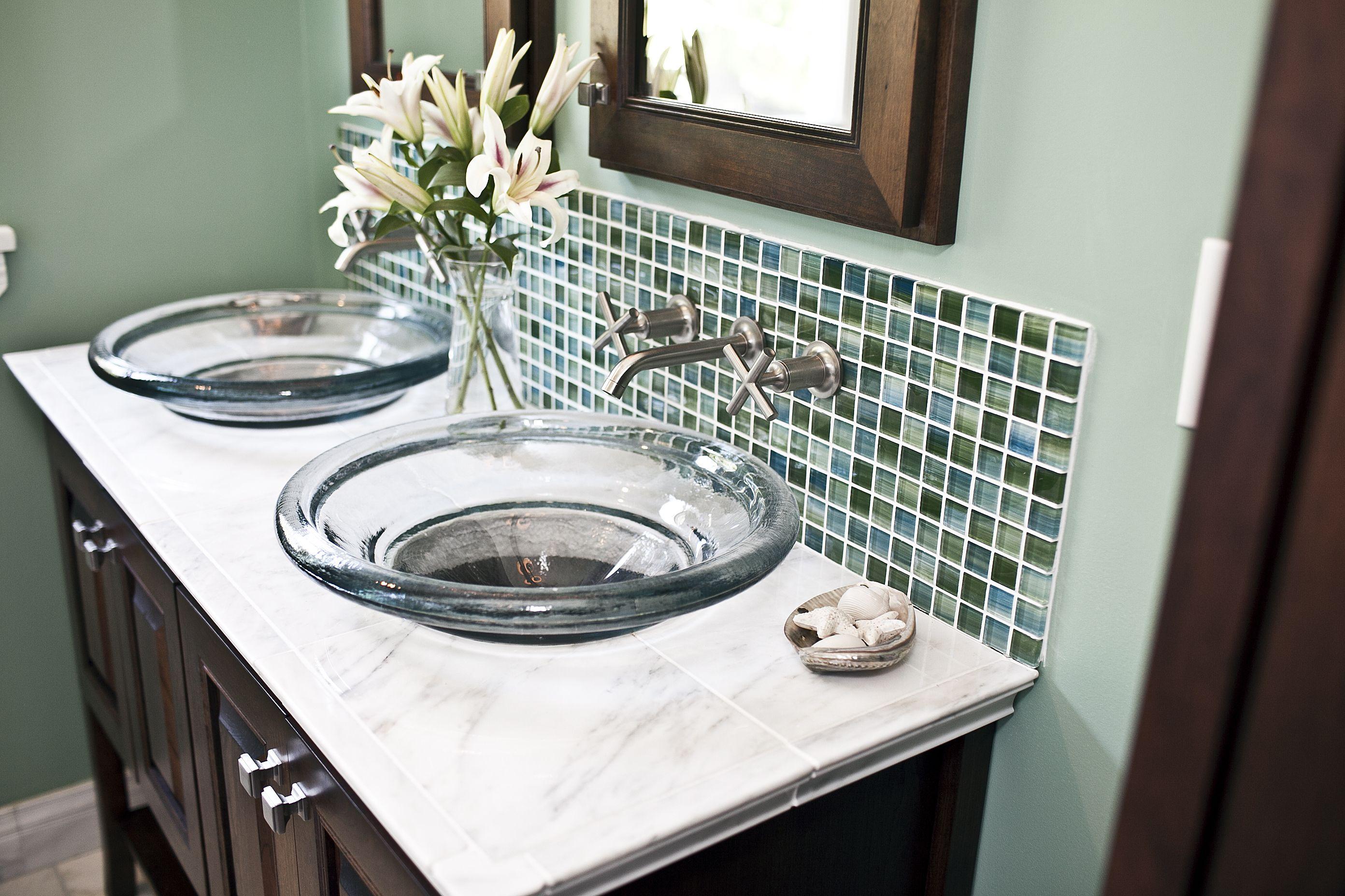 Caribbean Glass Mosaic Backsplash Glass Mosaic Backsplash