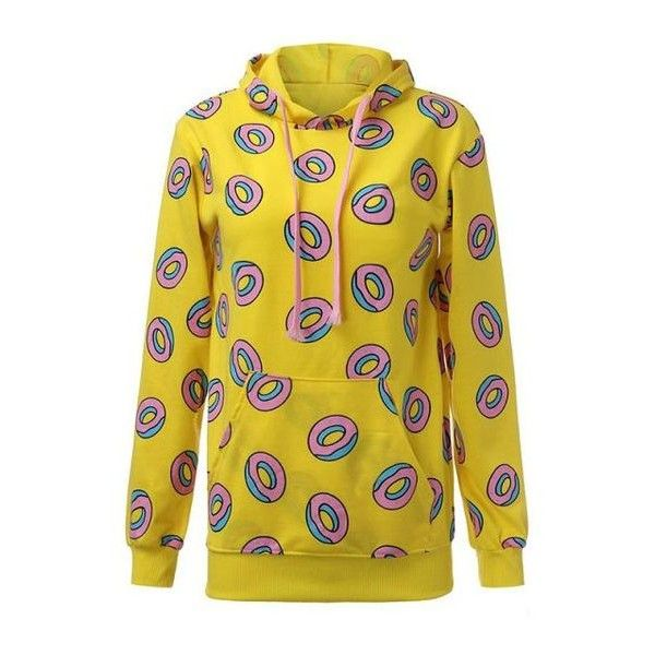 4a94d23a37be91 GOT7 Mark Yellow Donut Sweater Hoodie ❤ liked on Polyvore featuring tops
