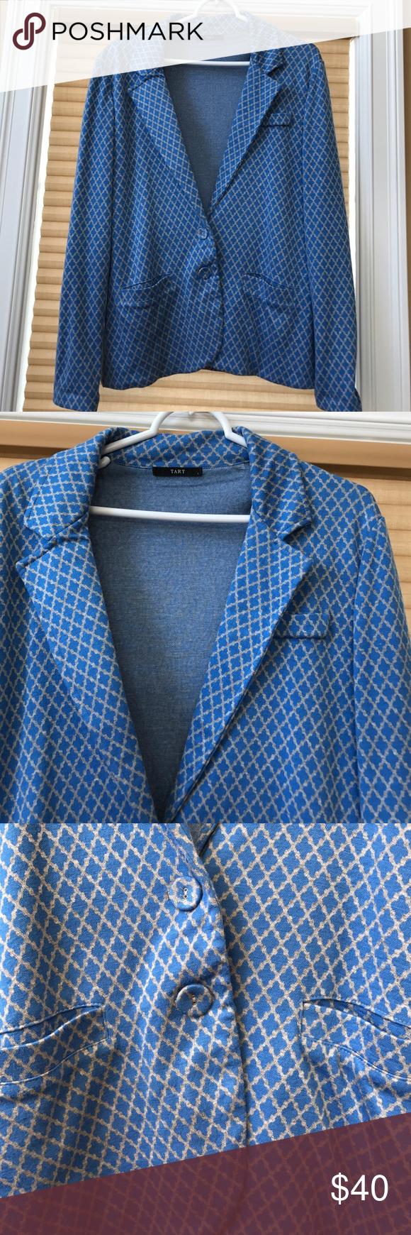 Tart Blazer Large- Rayon/Polyester/Spandex Tart Jackets & Coats Blazers