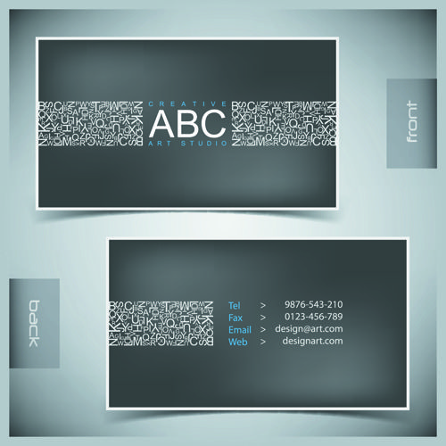 Creative Business Cards Vector background 02 | work | Pinterest ...