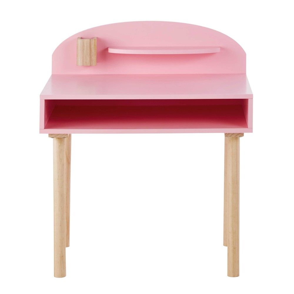 bureau enfant en bois rose l 70 cm univers enfant. Black Bedroom Furniture Sets. Home Design Ideas