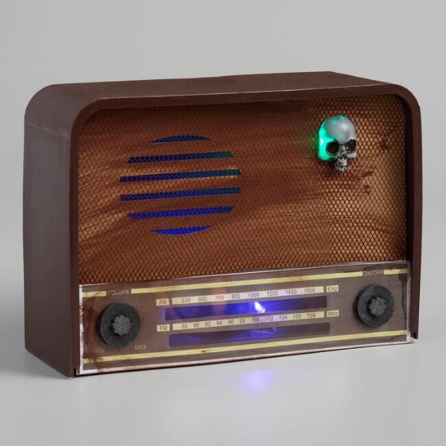 Haunted Radio Light Up Halloween Decorations, Home Decor with Sound