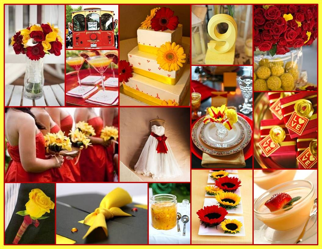 A Perfect Cardinal And Gold Wedding For When I Get Married