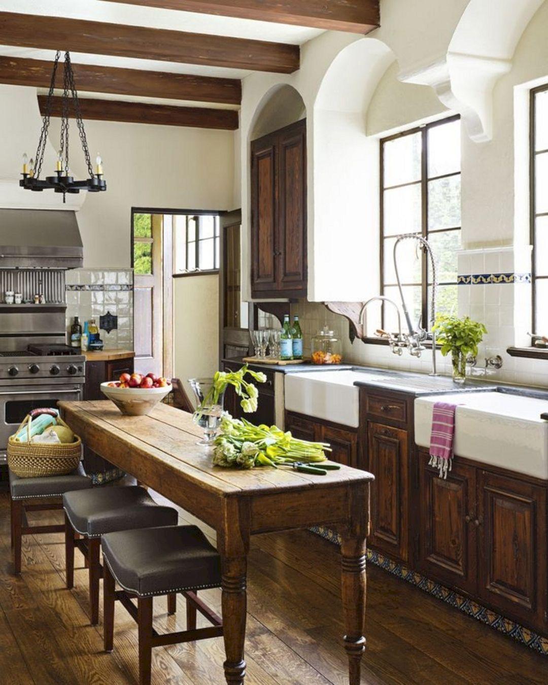 24 Farmhouse Rustic Small Kitchen Design And Decor Ideas