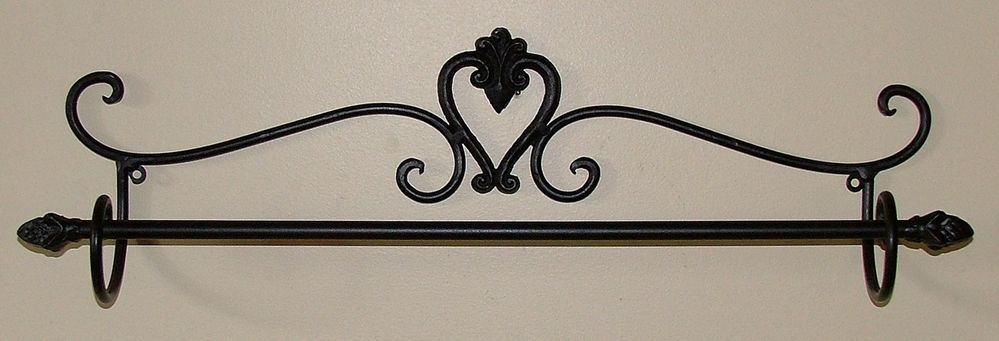 Wrought Iron Rustic Towel Rail
