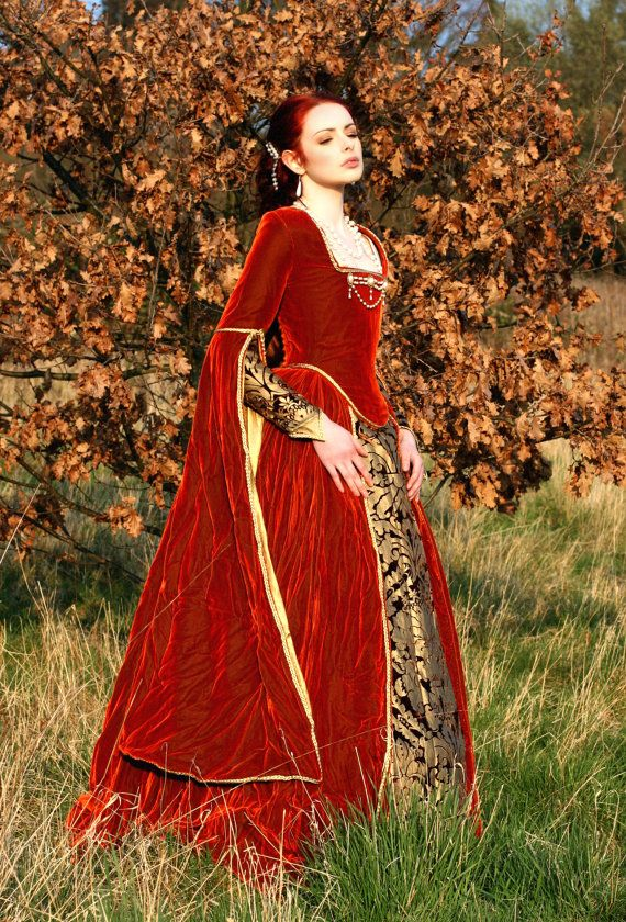 Magnificent medieval tudor russet and gold by KatmarenDesigns ...