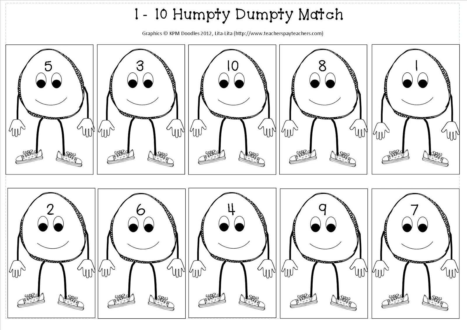 Early Years Fun Humpty Dumpty Maths