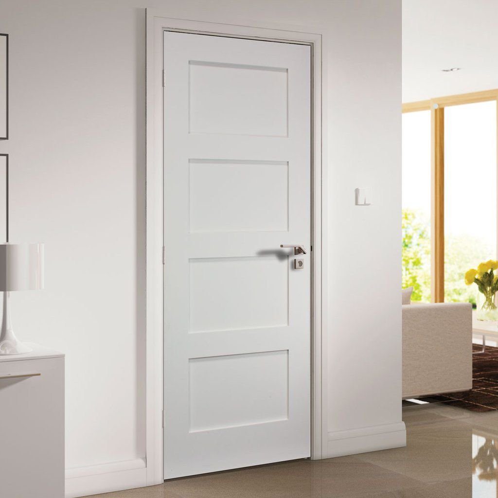 Coventry White Primed Shaker Door Deanta Sustainable