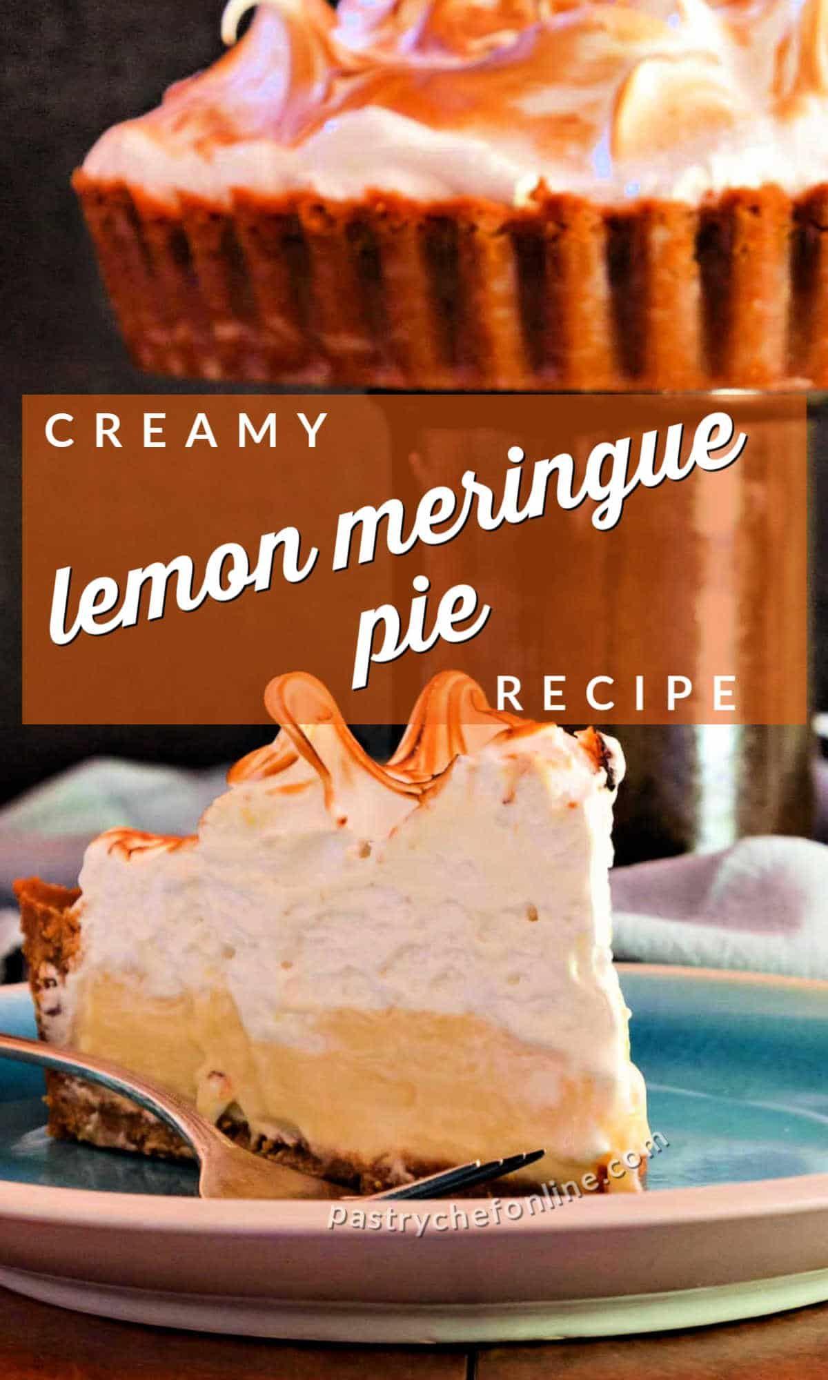 Deep Dish Lemon Meringue Tart Key Lemon Tart Pastry Chef Online In 2020 Meringue Pie Recipes Lemon Recipes Homemade Graham Cracker Crust