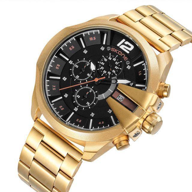8bc01b02470 Relógio Skone Army Funcional Gold - Dali Relógios