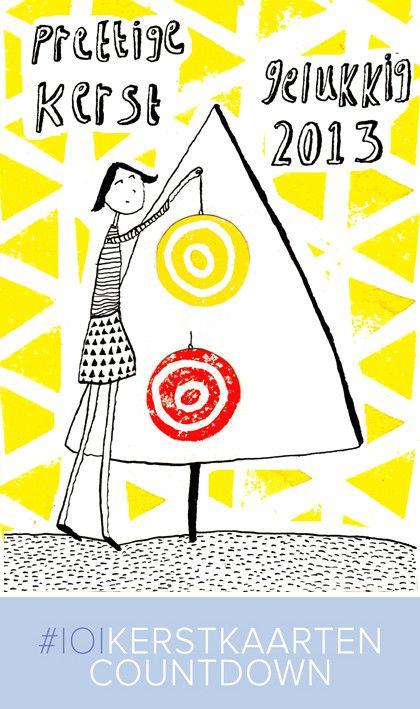 Design: @Octavie Wolters #101kerstkaartencountdown2012 #cards #christmascard #postcard #holidaycards #dutchdesign #101woonideeen #stamps #kerstkaarten