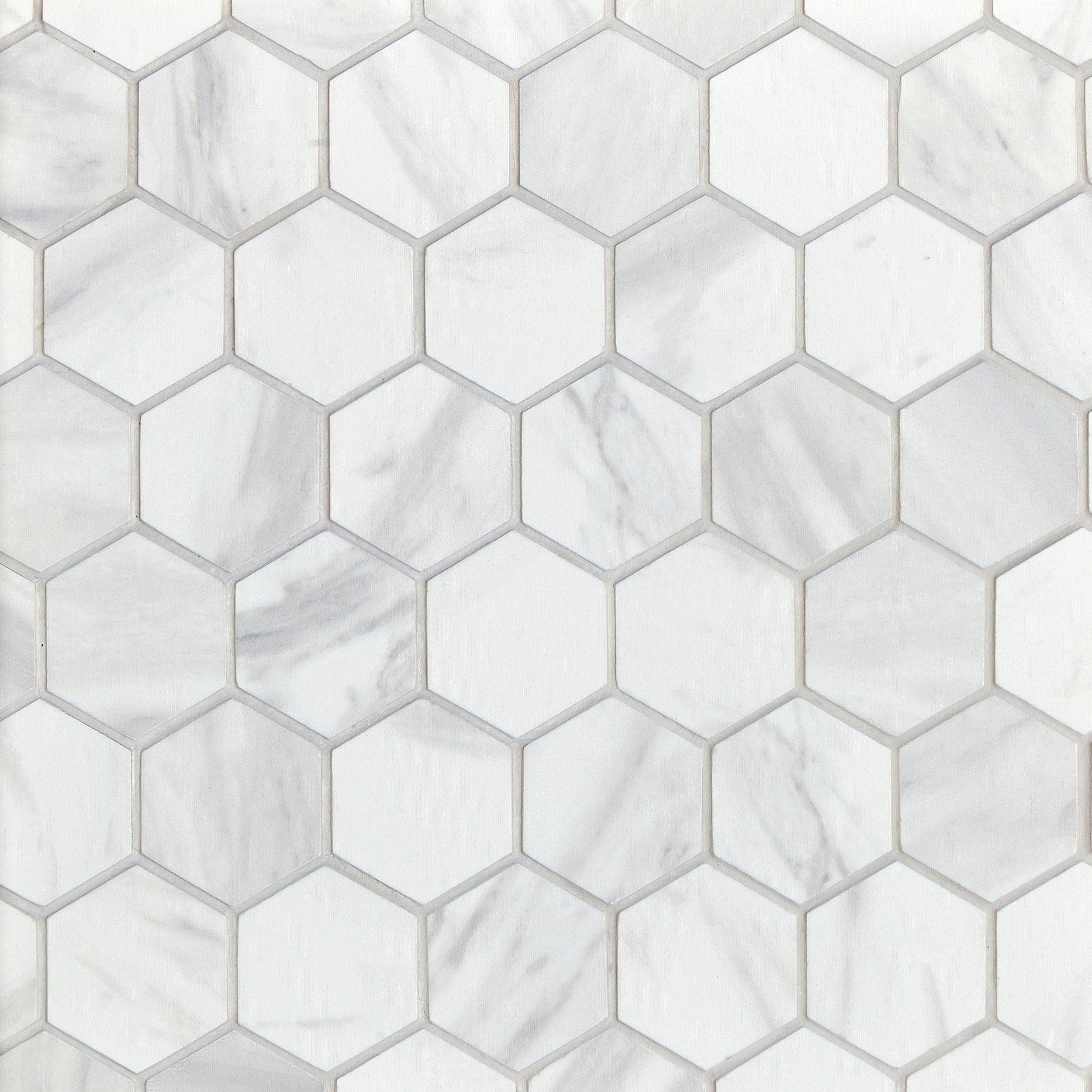 volakas polished hexagon porcelain