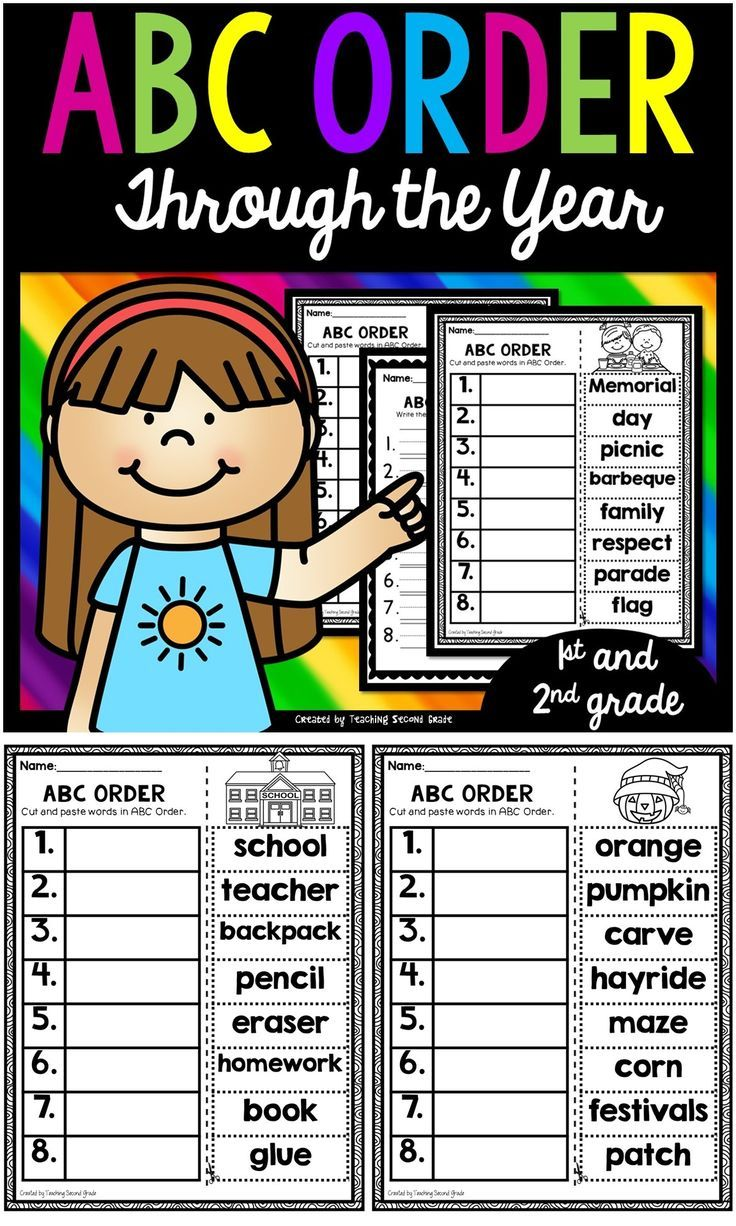 ABC Order   Early Literacy Activities and Ideas!   2nd grade classroom [ 1226 x 736 Pixel ]