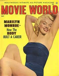 marilyn monroe magazine cover. The Blonde in the Pic. May 1954