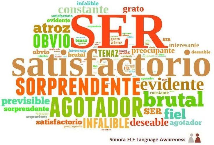 b1 adjetivos que s lo se usan con el verbo ser spanish i verbs spanish classroom. Black Bedroom Furniture Sets. Home Design Ideas