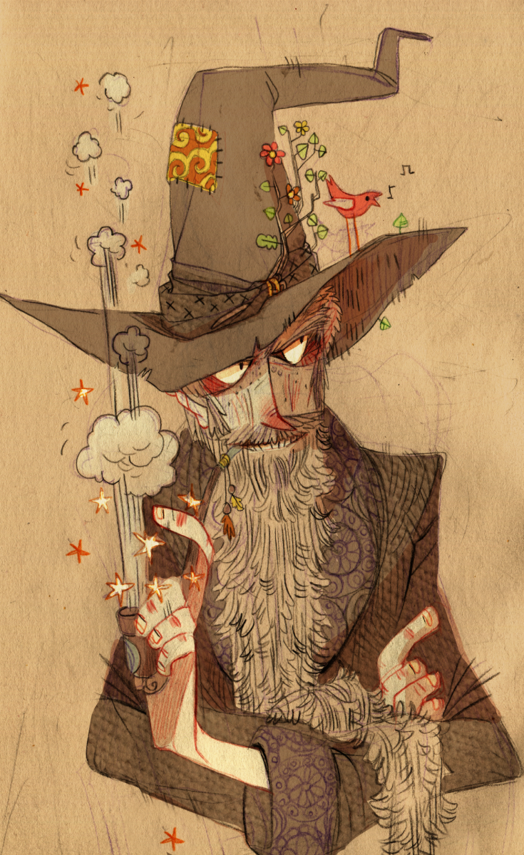 eh…for this illustration friday just quick sketch of Gandalf :3