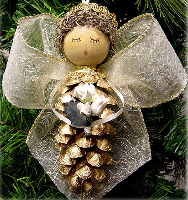 Angeli Lavoretti Di Natale.25 Lavoretti Di Angioletti Natalizi Con Diversi Materiali Decorazioni Natalizie Vacanze Di Natale Decorazioni Di Natale