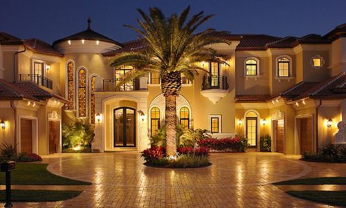 Brick Paved Roundabout Driveway. Small Luxury Homes, Luxury Homes Dream  Houses, Dream Homes