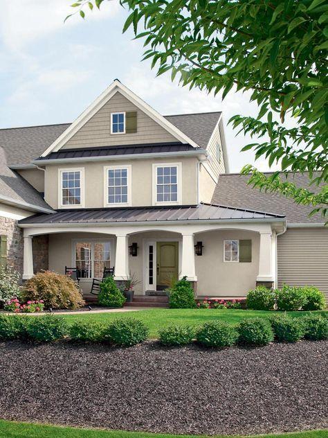 20 Inviting Home Exterior Color Ideas | Outdoor Design - Landscaping Ideas, Porches, Decks, & Patios | HGTV