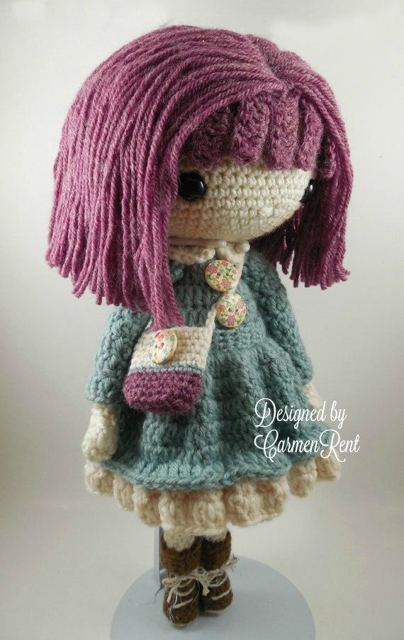 e5185e048e1 Kendra- Amigurumi Doll Crochet Pattern PDF by CarmenRent on Etsy
