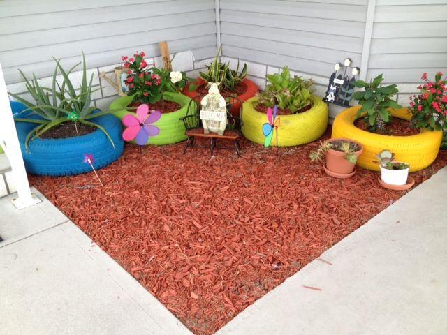 Garden Ideas Using Old Tires