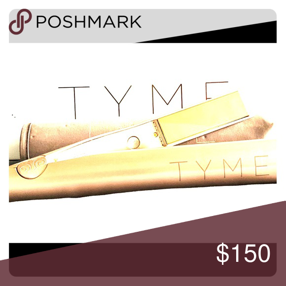 TYME Flat Iron Never used. Just one tool to straighten or curl your hair Other #flatironwaves