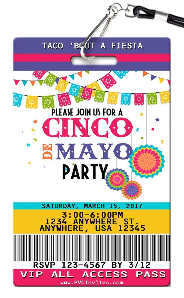 Cinco De Mayo Birthday Invitations