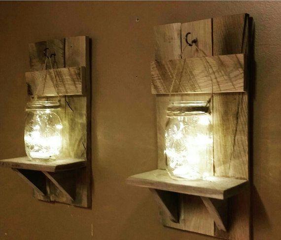 Rustikale Home Decor Kerzenhalter Einmachglas Dekor Set   – Rustic Stuff