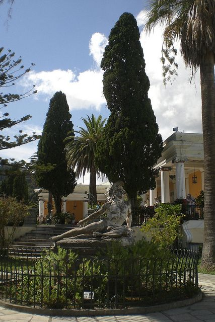 Upper gardens at Achillion