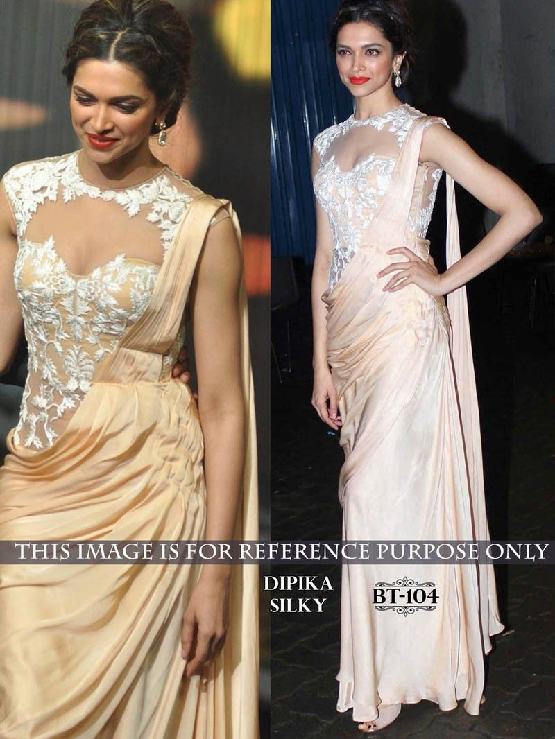 Beige #Color #Bollywood #Designer #Saree #Gown | Bollywood Replica ...