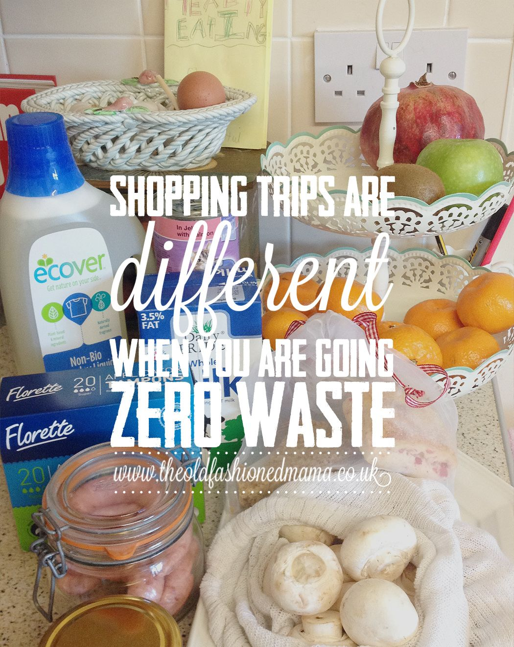 shopping trips are different when you are going zero waste