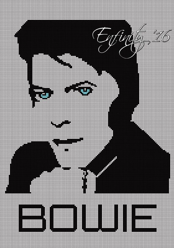David Bowie Graph Crochet Pattern David Bowie Graphghan David