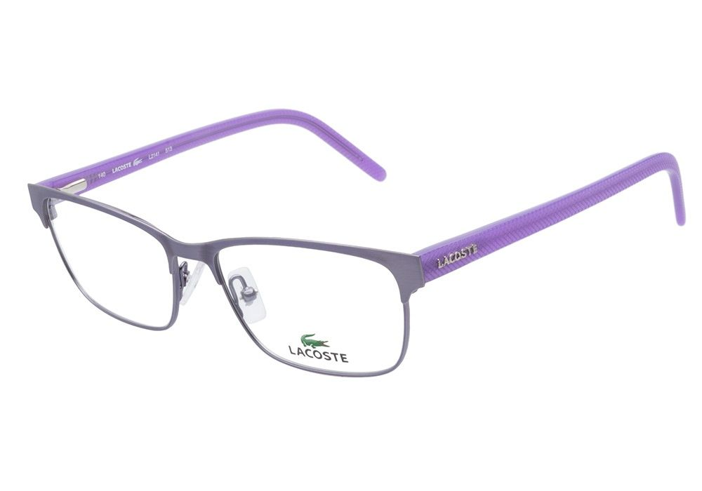 b9a7a5ed55 Lacoste L2141 513 Satin Purple eyeglasses are strikingly vivid. This serene  style comes with a metal frame front in a metallic lavender hue