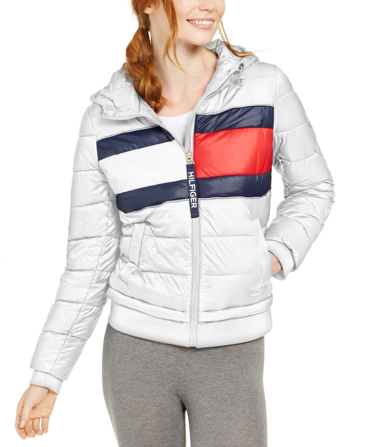 Tommy Hilfiger Quilted Colorblocked Jacket & Reviews