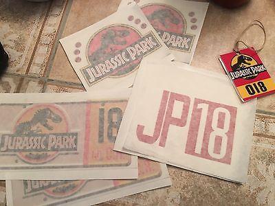 Jurassic Park Custom Power Wheels Jeep Vinyl Decal Kit