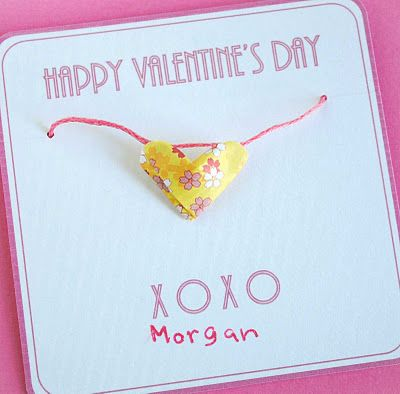 Origami Lucky Heart Valentines Adorable
