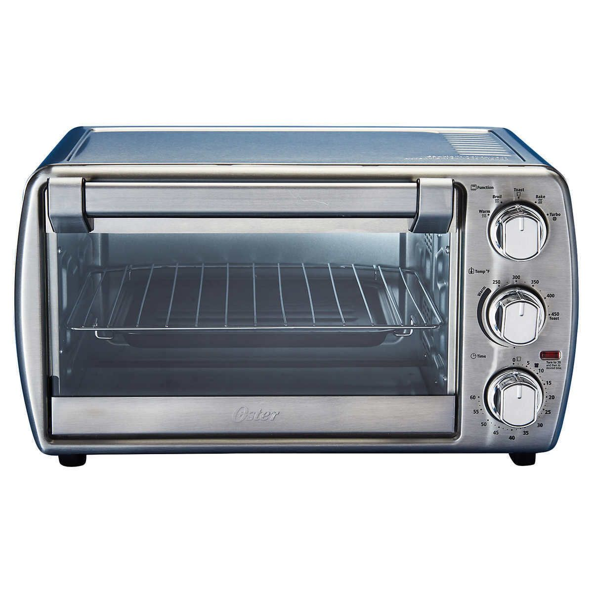 New Oster 6 Slice Turbo Convection Countertop Oven Brushed