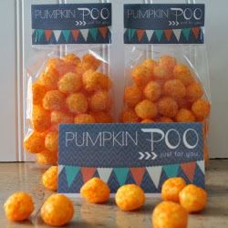 Pumpkin Poop + 4 Halloween Treat Bag Toppers - Somewhat Simple