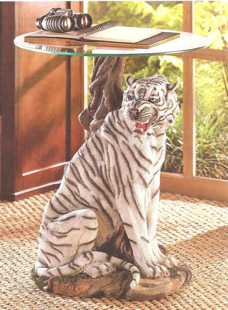 White Tiger Pedestal Tempered Glass End Table Glass Top End Tables Glass Top Accent Table White Tiger [ 1268 x 932 Pixel ]